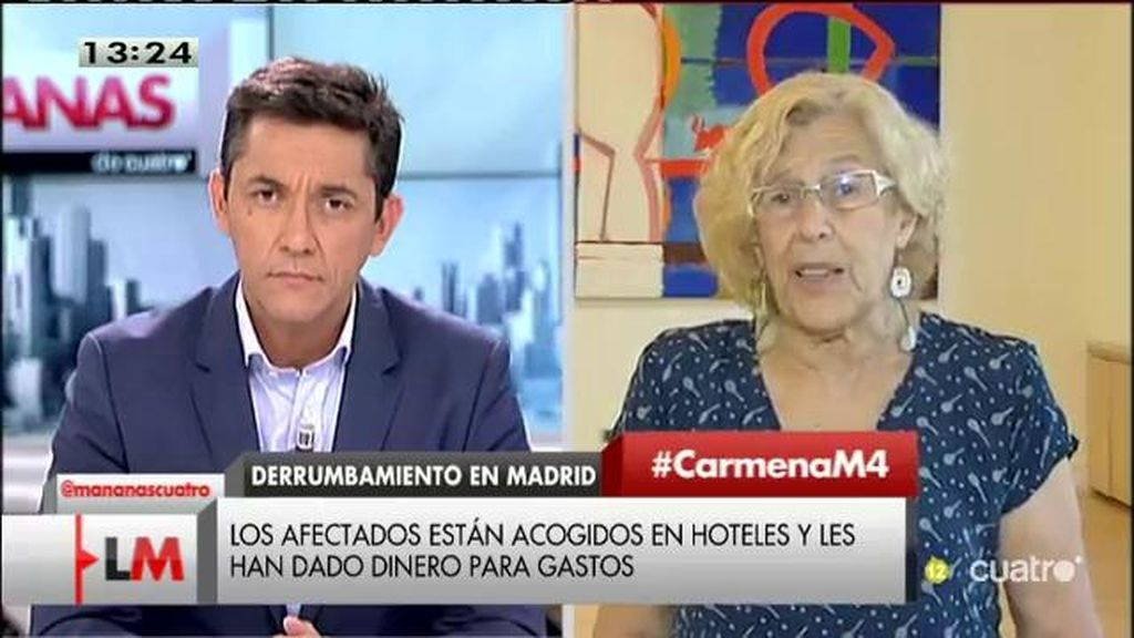"""Carmena: """"Estamos empezando a lanzar nuestro plan de rehabilitación de viviendas"""""""