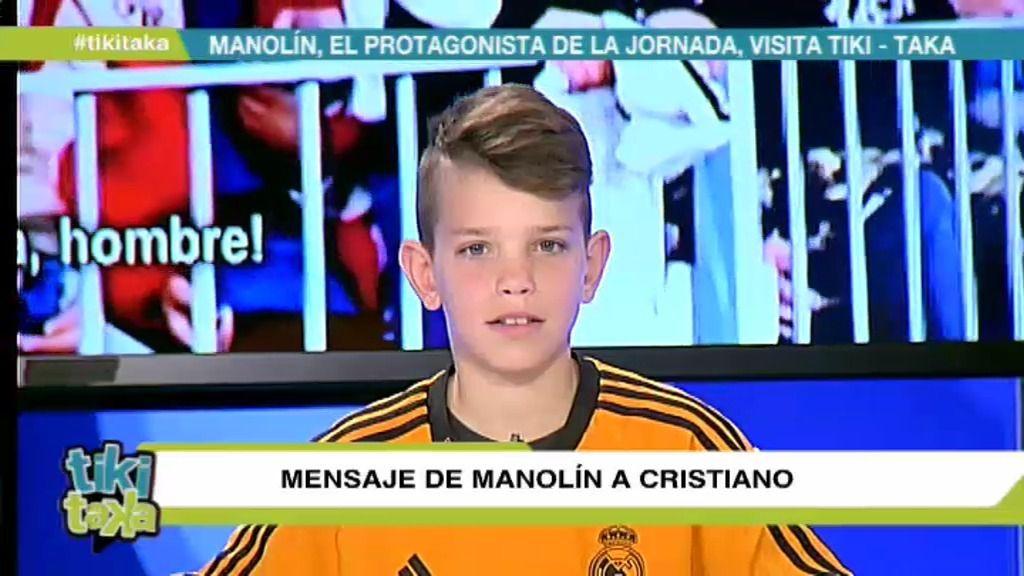 Manolín envía un mensaje a Cristiano Ronaldo desde Tiki Taka