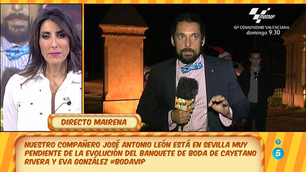 """José Antonio León: """"El primer invitado que ha abandonado la boda de Eva y Cayetano ha sido Julián Contreras"""""""