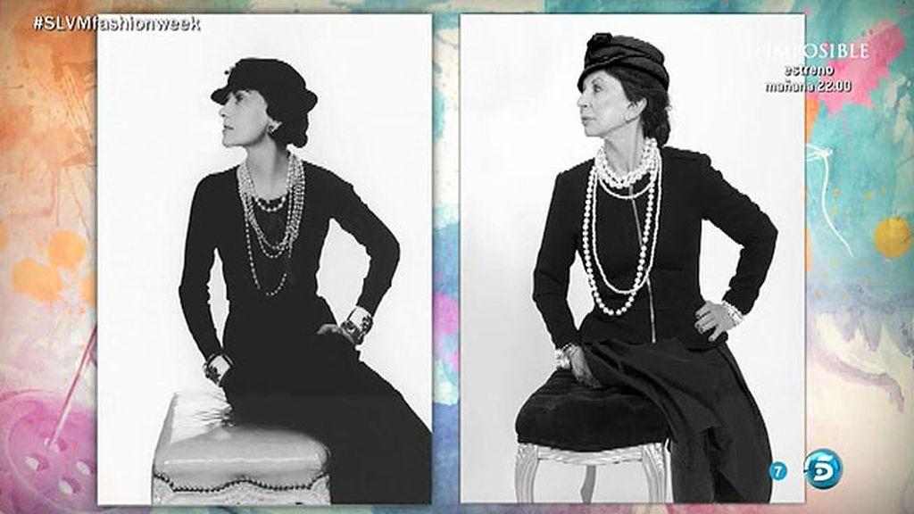 Karmele se convierte en Coco Chanel para recrear una foto histórica de Man Ray