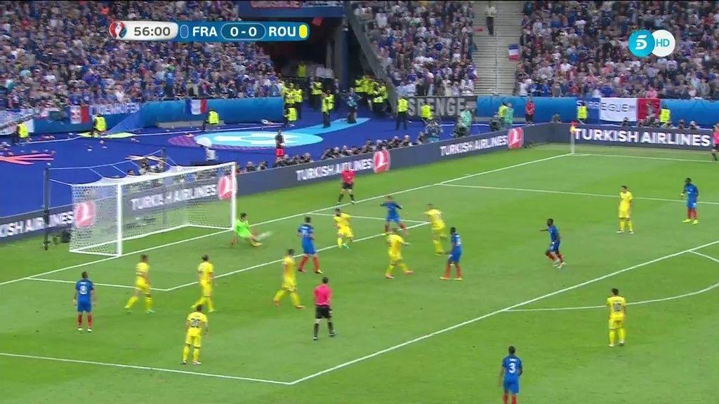 Paradón de Tatarusanu a Pogba que evitó el primero de la Selección francesa