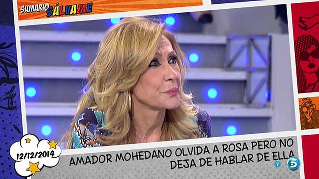"""Rosa Benito, de Amador Mohedano: """"Ya no me duele nada de lo que diga"""""""