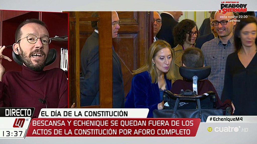 Echenique desmiente: Ni hubo desplante a Podemos ¡ni 'cobra' de Ana Pastor!