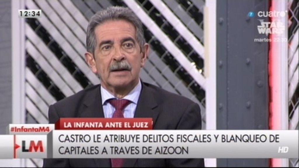 """Miguel Ángel Revilla: """"Iñaki y la Infanta se han llevado 15 millones de euros netos"""""""