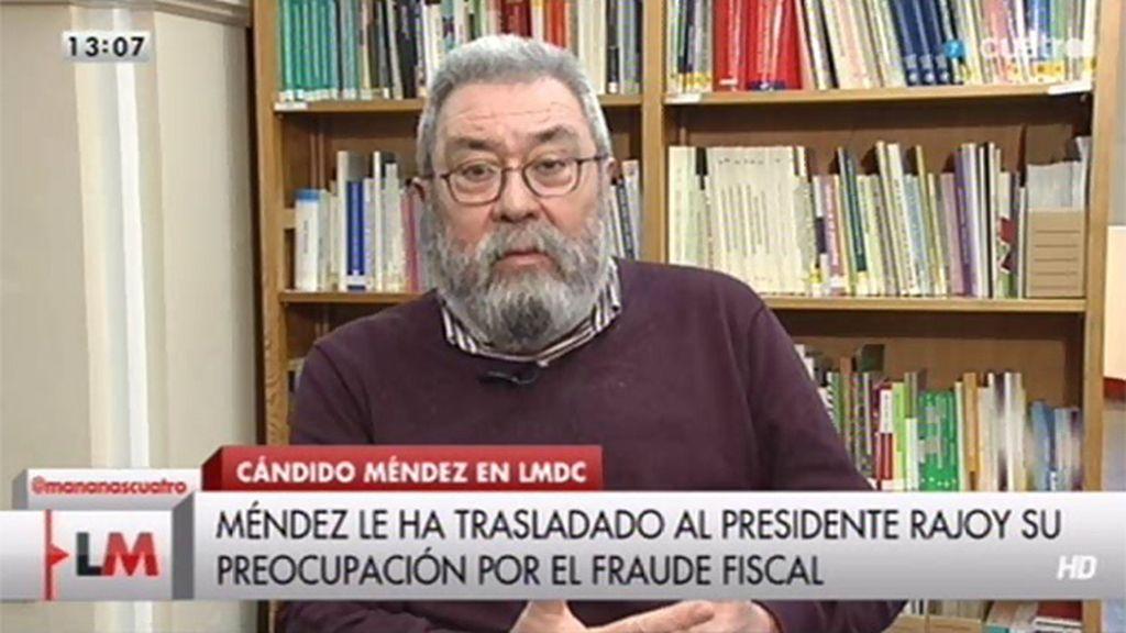 La entrevista a Cándido Méndez, online