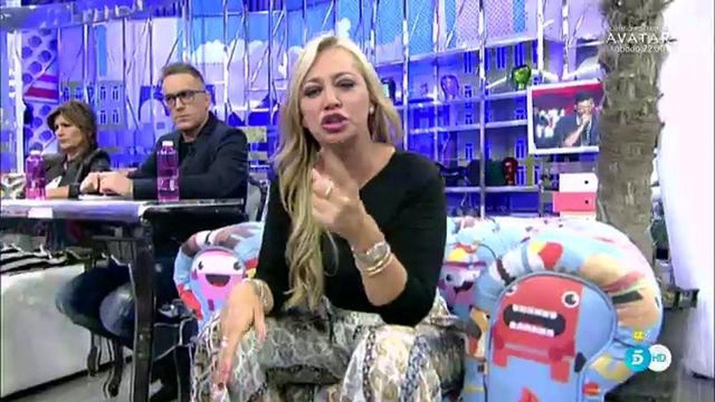 """Belén Esteban responde a los dardos de Toño Sanchís: """"¿Y tú qué carrera tienes?"""""""