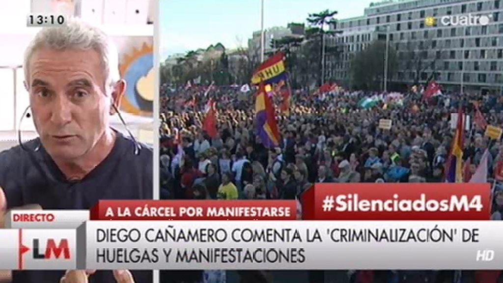 """Diego Cañamero: """"El PSOE y el PP se han convertido en dos grandes empresas que tienen un ERE de 6 millones de parados"""""""