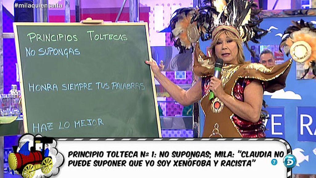 """Mila Ximénez, a Claudia: """"Me dicen los toltecas que donde no sepas, no te metas"""""""