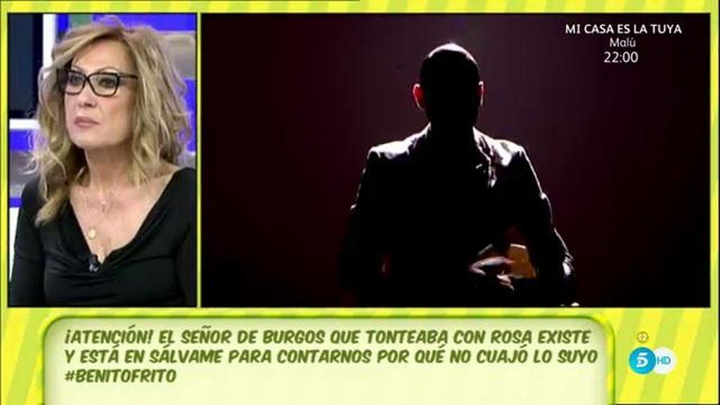"""Jota, el amigo de Burgos Rosa Benito: """"Me impactó el fuego que tiene en los ojos"""""""
