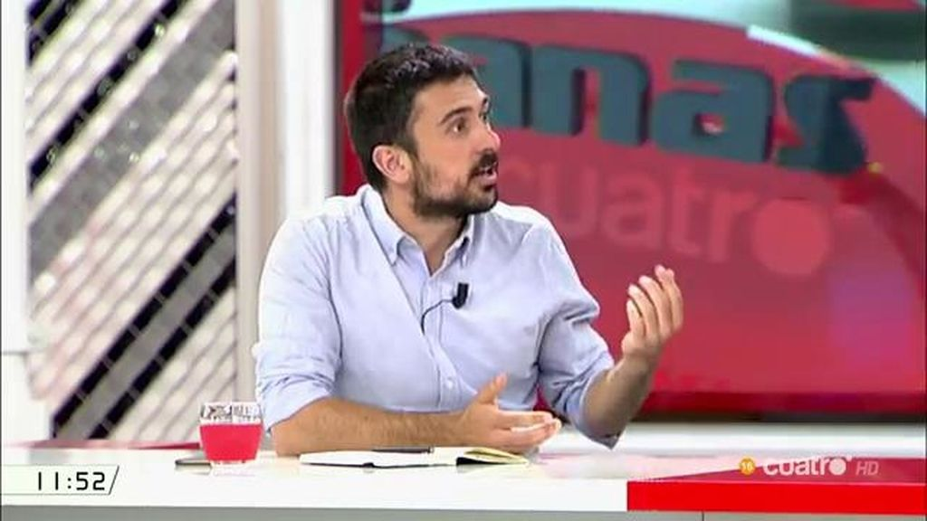 """Ramón Espinar: """"No nos hemos presentado a la ciudadanía como un partido nuevo de impugnación de lo viejo"""""""
