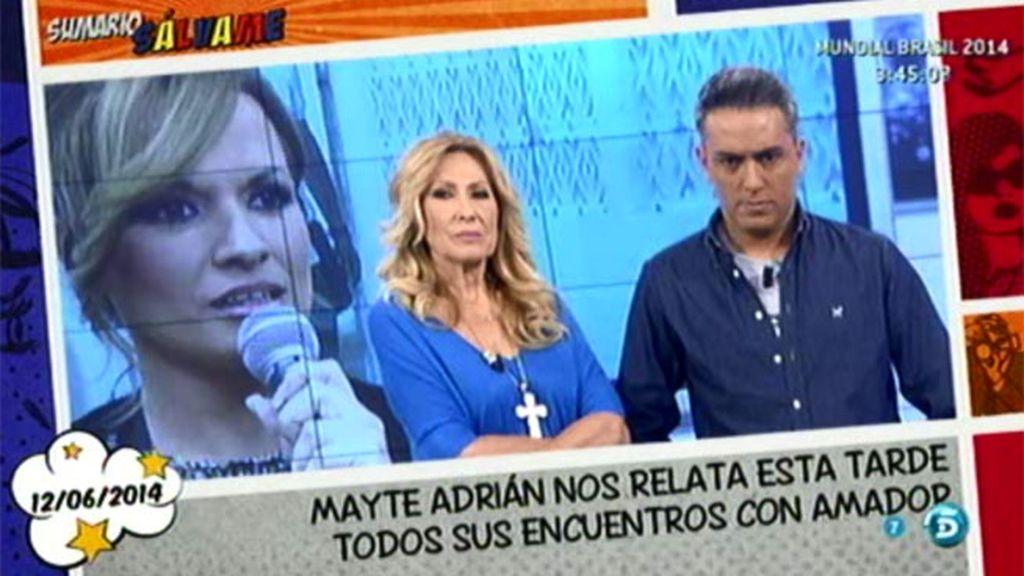 """Mayte Adrián, a Rosa Benito: """"No justifiques más a Amador, al menos como persona"""""""