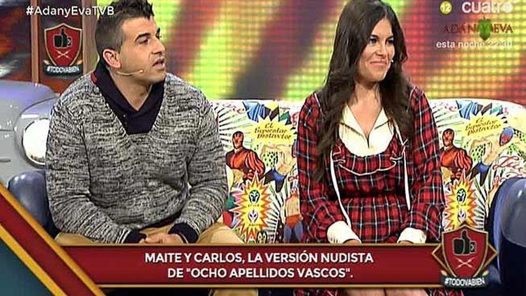 """Maite y Carlos, de 'Adán y Eva': """"Todavía no nos hemos besado de verdad"""""""