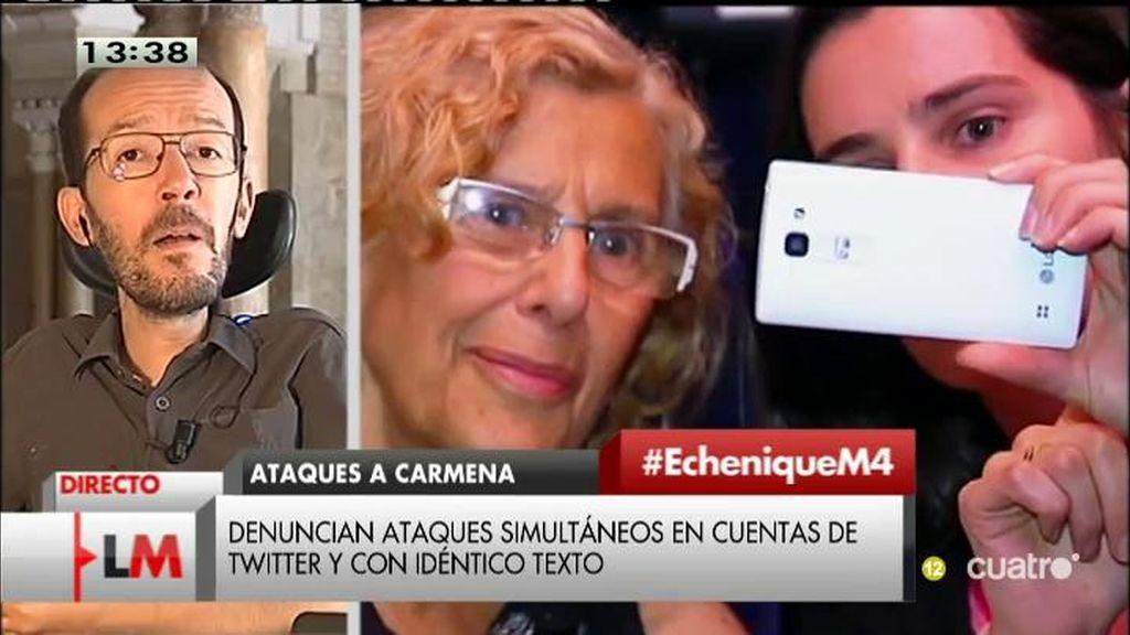 """Echenique: """"El PP pierde dinero en sus campañas en Twitter contra Carmena"""""""
