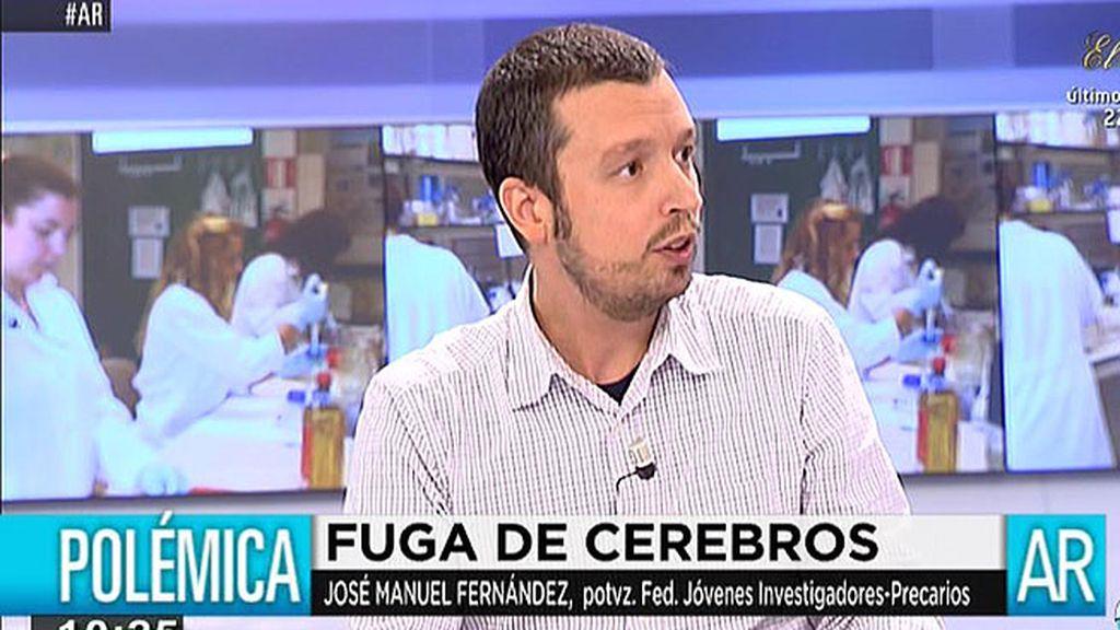"""J. M. Fernández, portavoz jóvenes investigadores: """"Por cada 10 investigadores que se jubilan solo sale una plaza"""""""