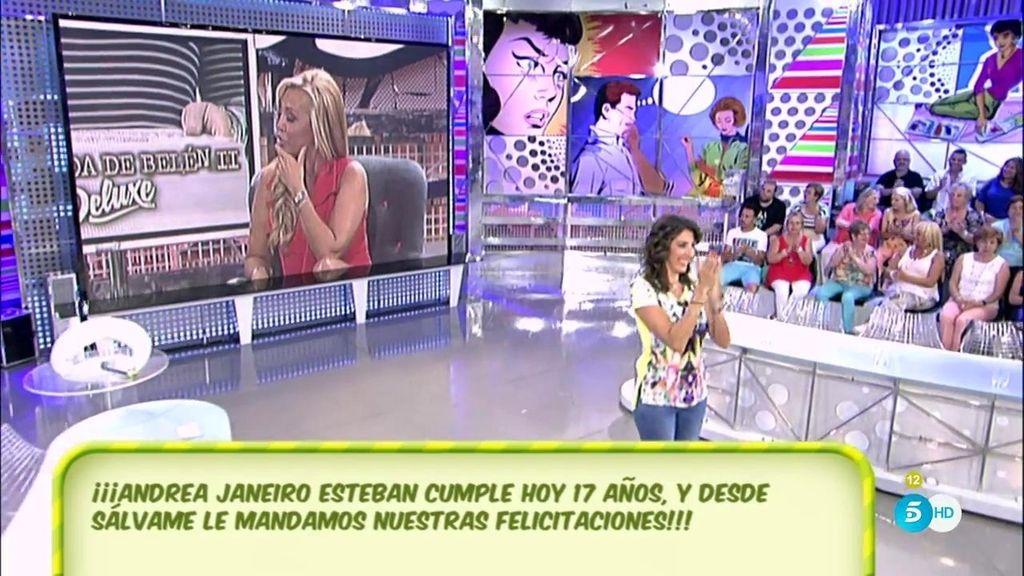 'Sálvame' le desea feliz cumpleaños a Andrea Janeiro Esteban