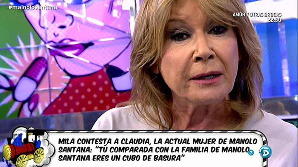 """Mila Ximénez, a Claudia: """"Eres estiércol comparado con la familia de Manolo"""""""