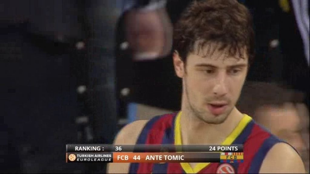 Tomic con su actuación con el Barça le convierten en M.V. P. de la jornada 7