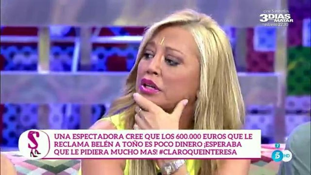 Belén Esteban, Toño Sanchís y la polémica con la página web