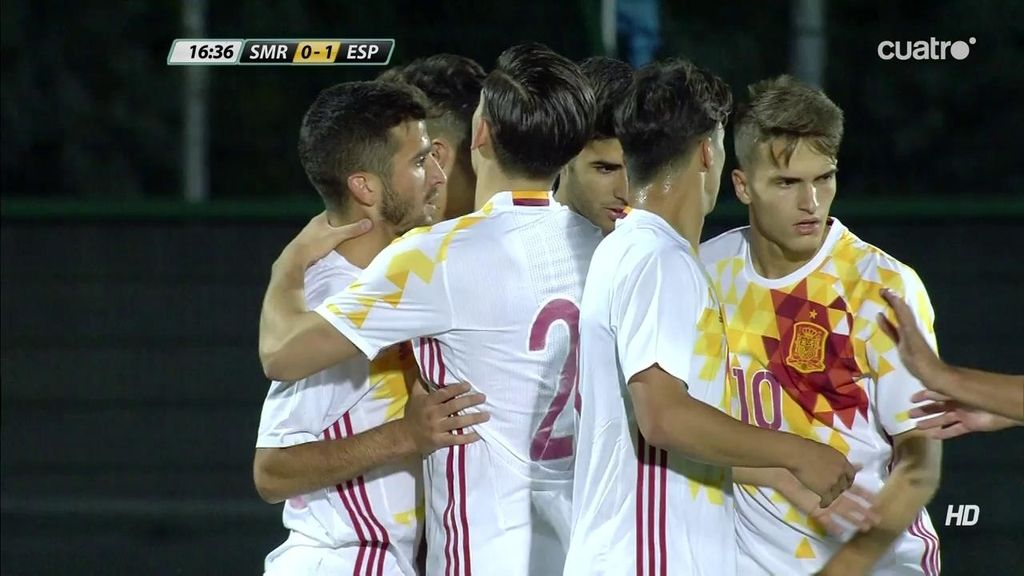 ¡Gol de Munir! Centro de José Gayá para abrir el marcador (0-1)