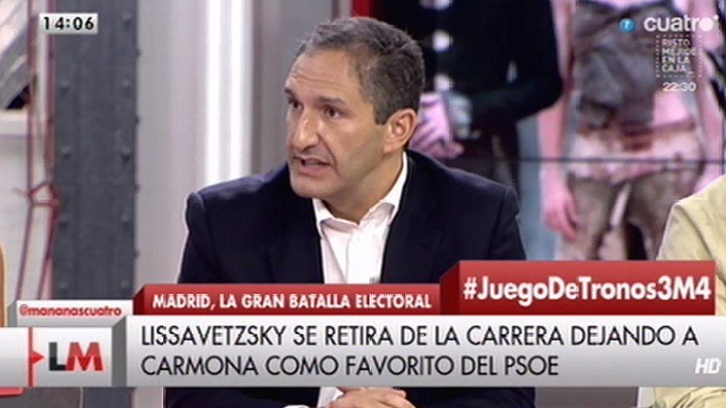 """""""El PSOE tiene un procedimiento en el que no se deja llevar por la divina providencia"""""""