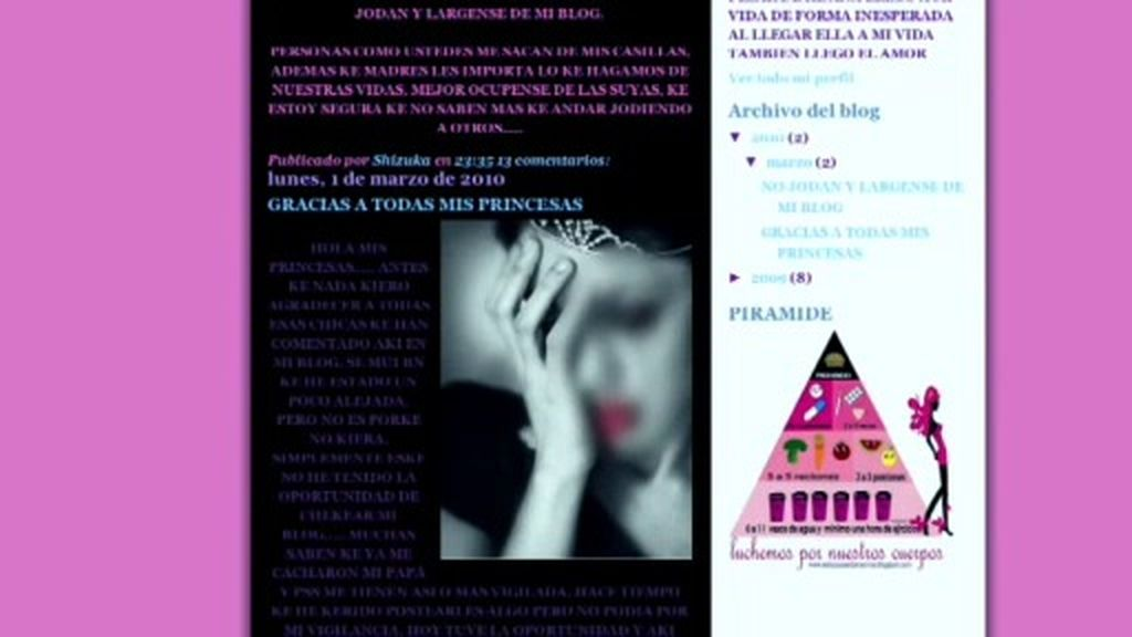 Promocionar la anorexia en Webs no es considerado un delito