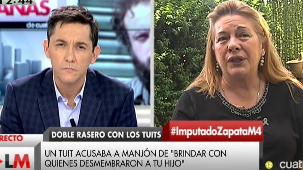 """Pilar Manjón: """"Si yo fuera ultra católica y del PP, sería una víctima VIP"""""""