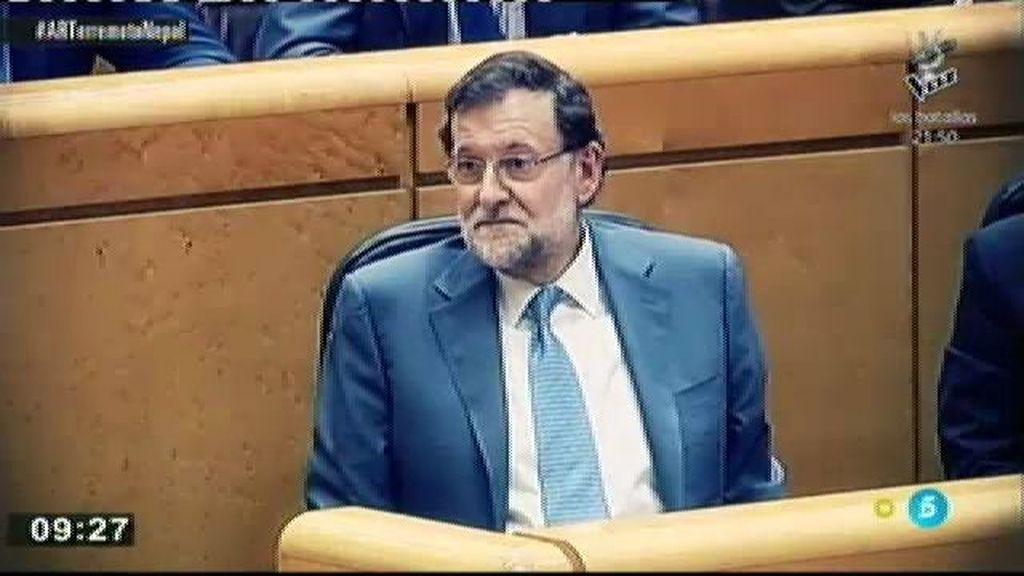 Mariano Rajoy no baja la guardia en el Senado ante los ataques del PSOE