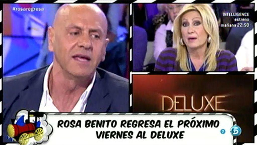 Las reacciones de los colaboradores ante la vuelta de Rosa Benito en el 'Deluxe'