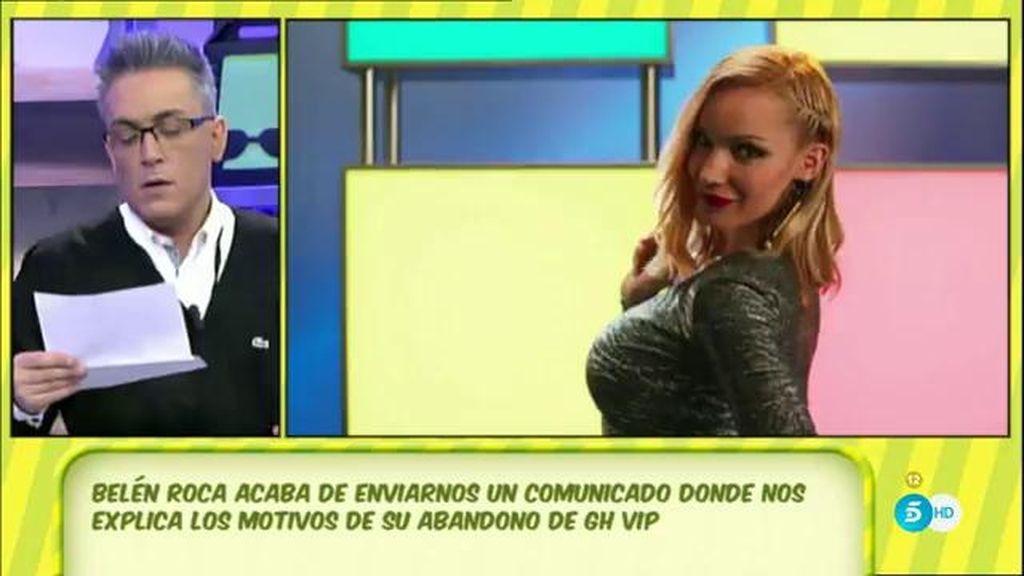 """Belén Roca ha abandonado 'GH VIP' """"por la repentina enfermedad de su madre y el empeoramiento de la misma"""""""