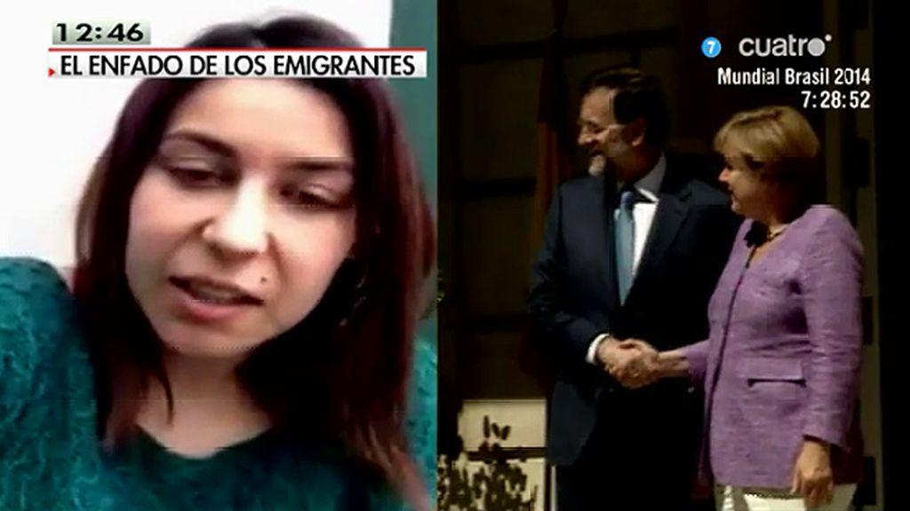 Una joven que ha emigrado a Alemania para trabajar dirige un mensaje a Mariano Rajoy