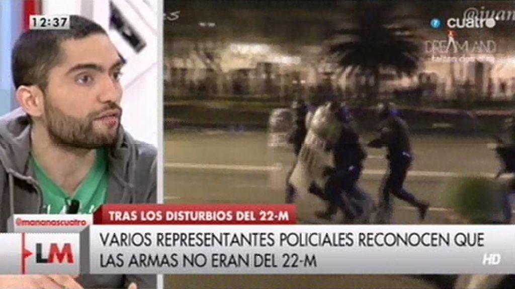 """""""Periodistas que estaban ahí denuncian que no fue la manifestación quien comenzó las situaciones que acabaron así"""""""