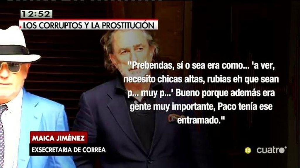 """Correa pedía prostitutas rubias y altas """"para gente importante"""", según su secretaria"""