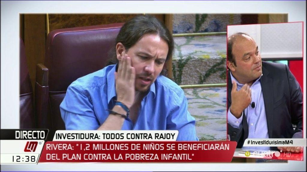 """Javier Ruiz describe el gesto de Iglesias a Rivera: """"Le está llamando jeta"""""""