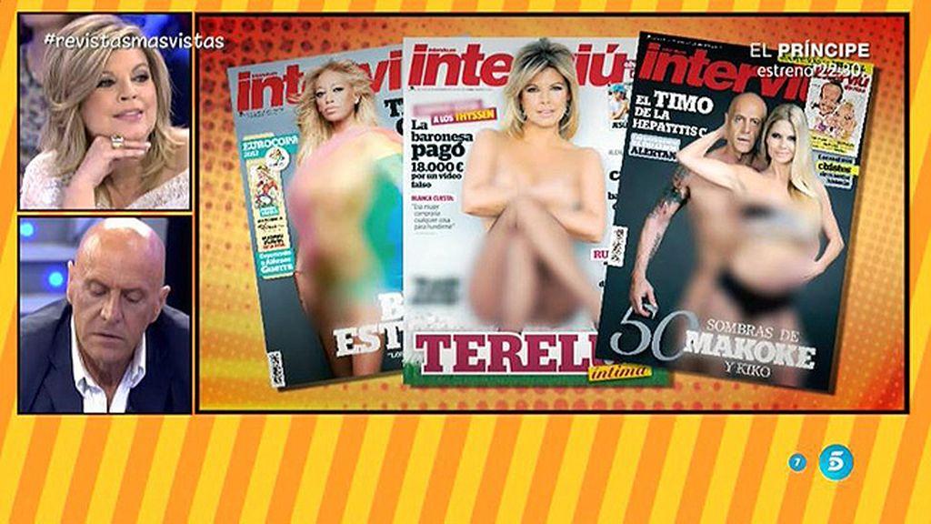Terelu, Belén o Kiko y Makoke ¿Quién ha tenido más éxito en la portada de 'Interviú'?