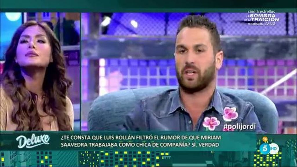 Jordi M. desvela que Luis Rollán difundió el rumor de que Miriam Saavedra era prostituta
