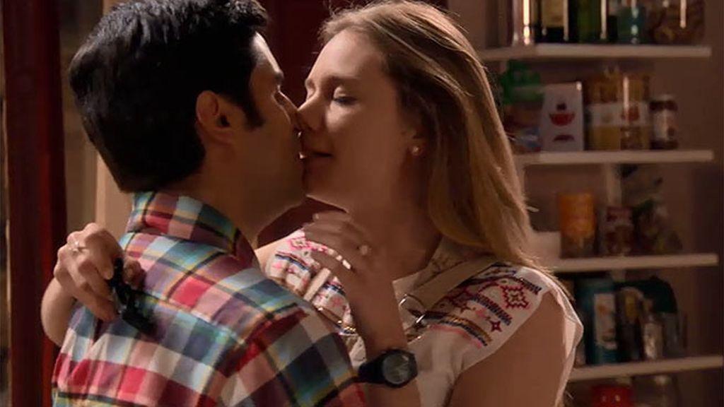 Irene y Rodrigo se deshacen en besos