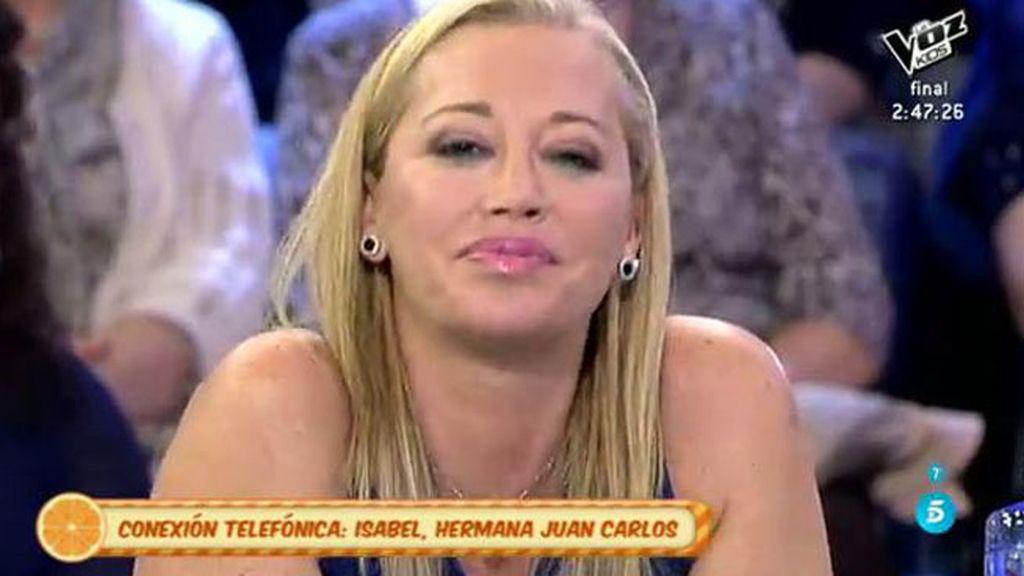 """Isabel, hermana de Juan Carlos, a Belén: """"La historia no la acabas tú, sino nosotros"""""""