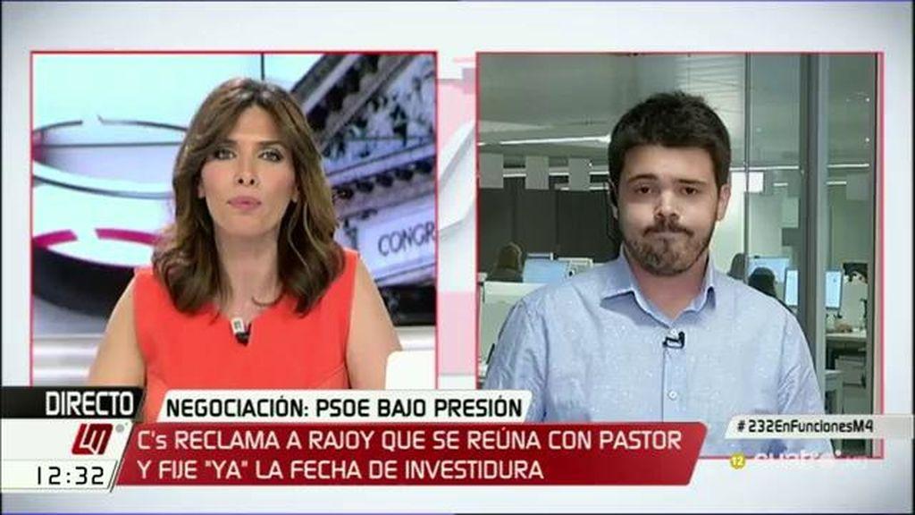 """N. Corredor: """"No hemos valorado la gravedad de que aún no esté confirmado si Rajoy se presentará o no al debate de investidura"""""""