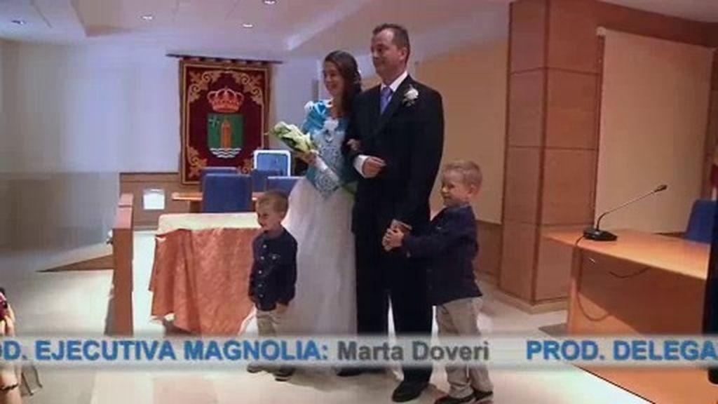 Laura y Miguel cumplen su sueño de casarse