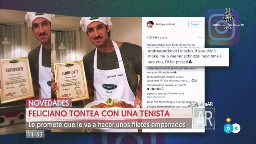 """Feliciano, a Andrea Petkovic: """"Eres mi debilidad. Cocinaré para ti"""""""