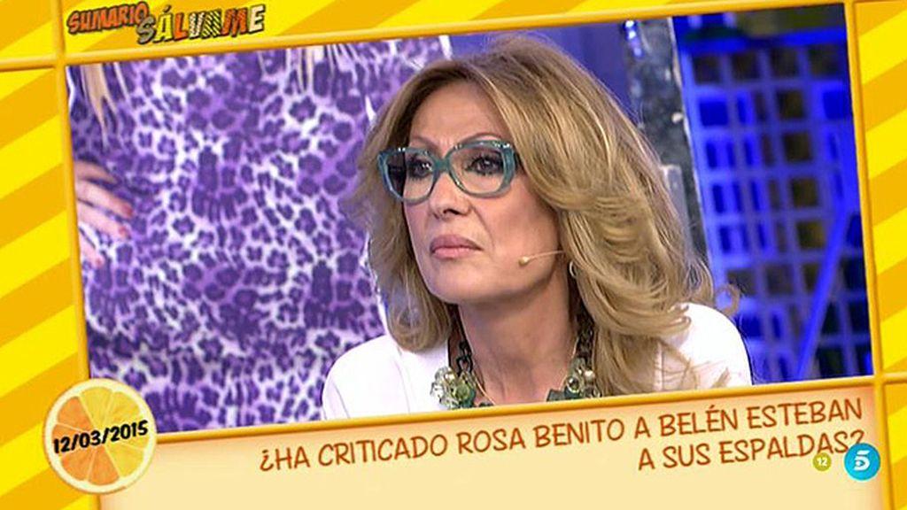 """Rosa Benito: """"No tengo un doble lenguaje con Belén Esteban"""""""