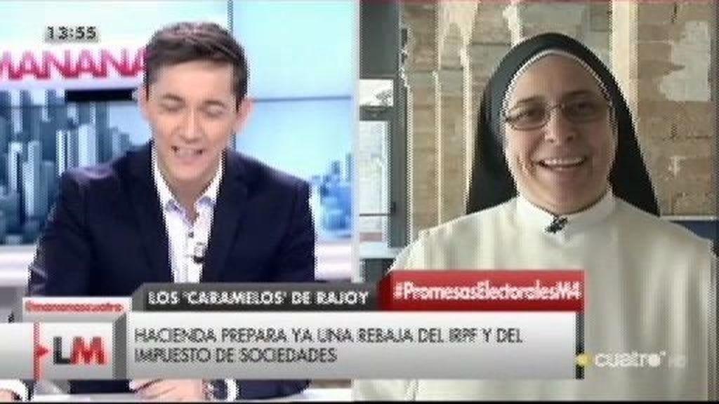 """Sor Lucía, sobre los 'caramelos' de Rajoy: """"No estamos para jugar con promesas electorales"""""""