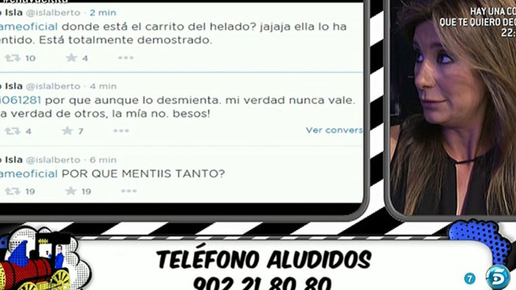 Alberto Isla responde a 'Salvame' en Twitter