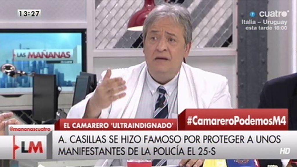 """A. Casillas, sobre P. Iglesias: """"Este señor utiliza el mismo discurso que utilizó Chávez"""""""