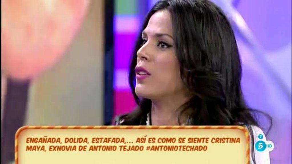 """Cristina Maya, de Antonio Tejado: """"Hubo un beso, una conversación, pero nada más"""""""