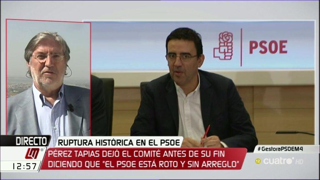 """Pérez Tapias: """"El grupo de Susana Díaz tiene que dar la cara"""""""