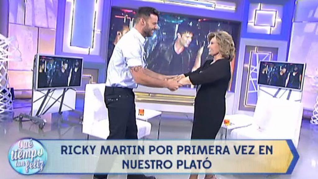"Ricky Martin, a María Teresa Campos: ""Fuiste mi talismán y eres mi madrina"""