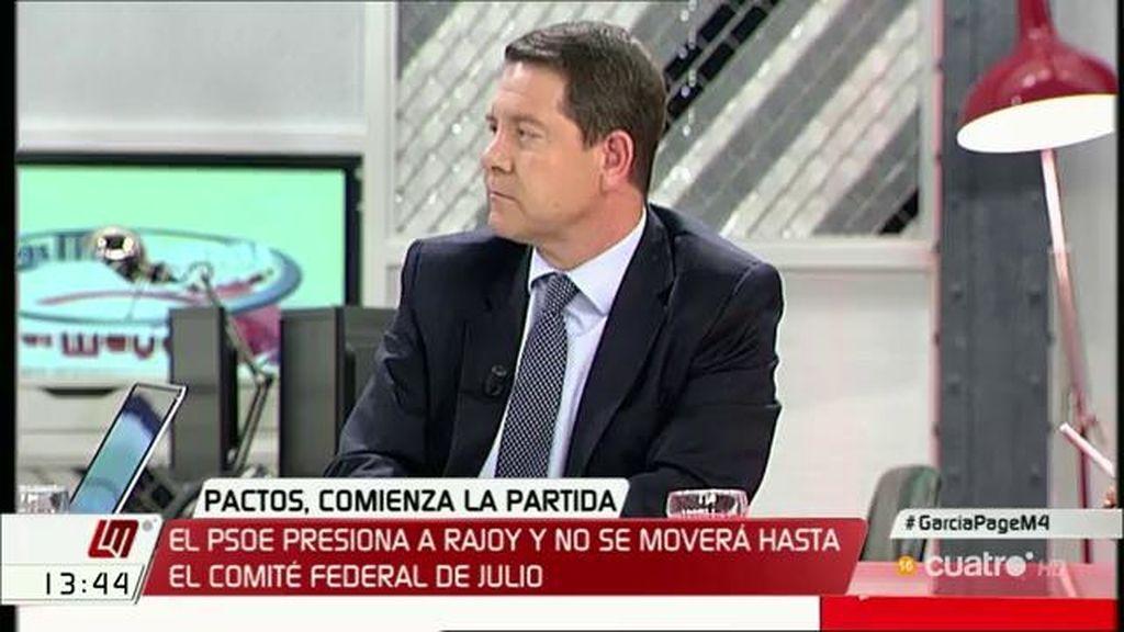 """Emiliano García – Page, sobre el PP: """"Tal y como van tirando de la cuerda, se pueden encontrar con una sorpresa"""""""
