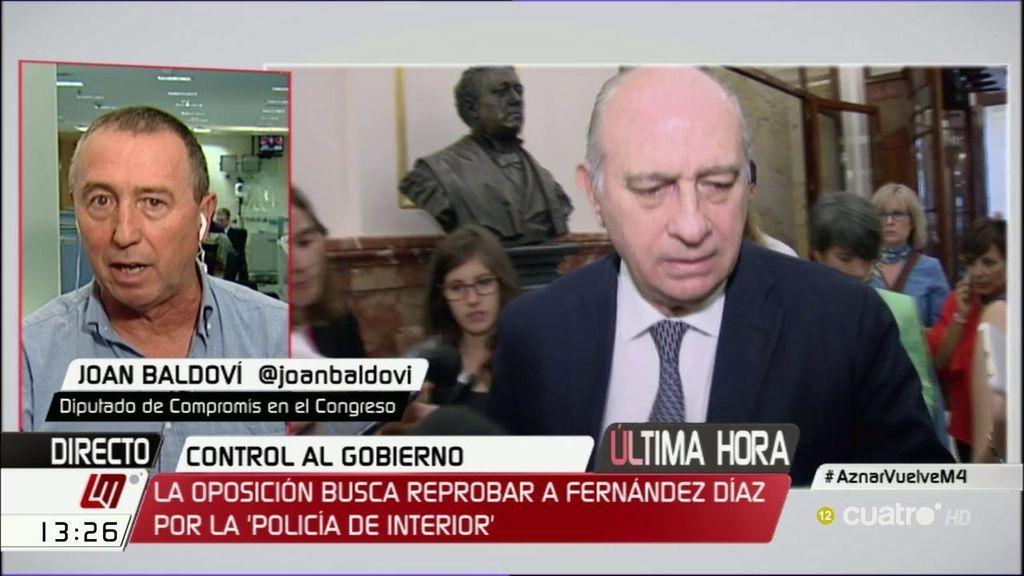 """Joan Baldoví sobre la trama Gürtel: """"Estaría bien que Aznar fuese a declarar"""""""