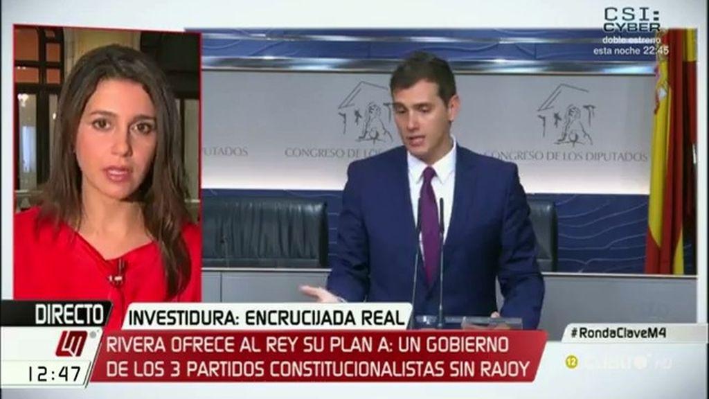 """Inés Arrimadas: """"Rajoy debería salir del gobierno pero no hay voluntad política"""""""